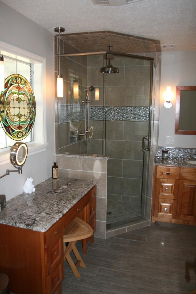 Remodeled bathroom by Beck Construction